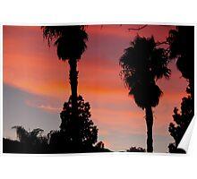 desert sunset - socal desert 2016 Poster