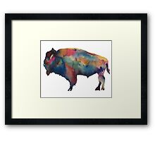 Buffalo, NY Watercolor Framed Print