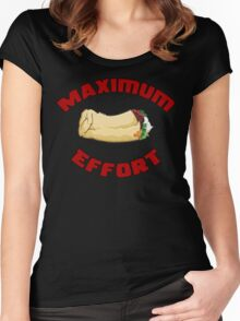 Maximum Effort Women's Fitted Scoop T-Shirt