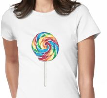 Rainbow lollipop Womens Fitted T-Shirt