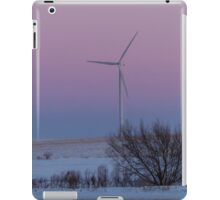 Wind Turbine At Sunset iPad Case/Skin