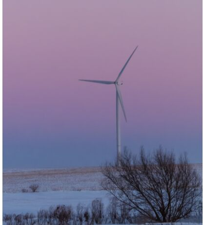 Wind Turbine At Sunset Sticker