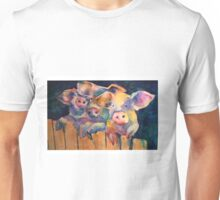 Waiting for Wolfie 3 Pigs Watercolor Unisex T-Shirt