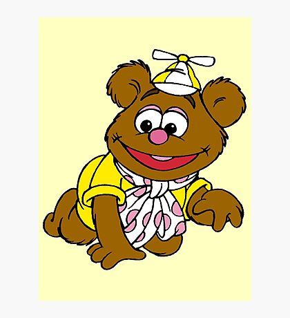 Muppet Babies - Fozzie Bear - Crawling Photographic Print