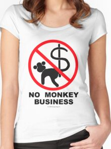 No monkey business Women's Fitted Scoop T-Shirt