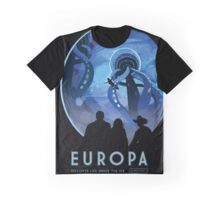 Retro NASA Space Poster - Europa Graphic T-Shirt