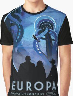 Retro NASA Space Poster - Europa Graphic T-Shirt