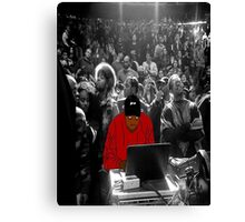 Kanye Dropping Beats Canvas Print