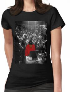 Kanye Dropping Beats Womens Fitted T-Shirt