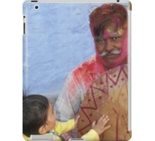 Helping play the drum after Holi iPad Case/Skin