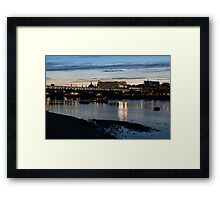 British Symbols and Landmarks - Cruising Under the Blackfriars Railway Bridge at Low Tide Framed Print
