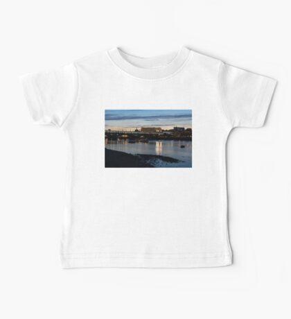 British Symbols and Landmarks - Cruising Under the Blackfriars Railway Bridge at Low Tide Baby Tee