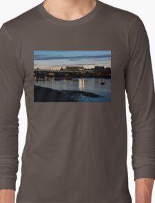 British Symbols and Landmarks - Cruising Under the Blackfriars Railway Bridge at Low Tide Long Sleeve T-Shirt