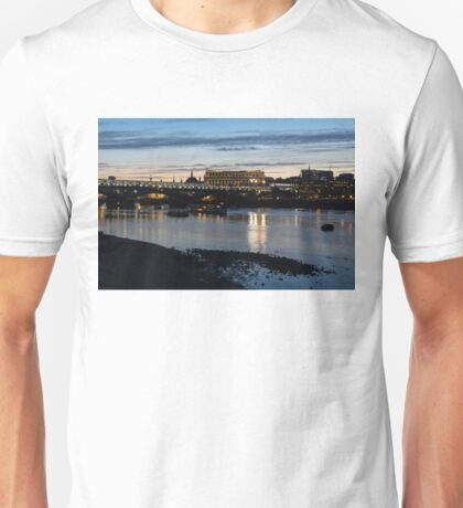 British Symbols and Landmarks - Cruising Under the Blackfriars Railway Bridge at Low Tide Unisex T-Shirt