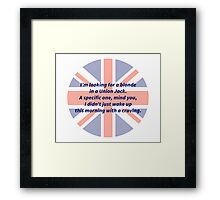 A Blonde in a Union Jack Framed Print