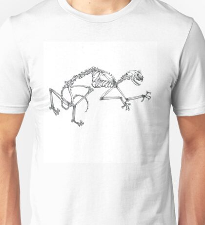 Stippling Cat Skeleton Unisex T-Shirt