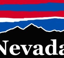 Nevada Red White and Blue Sticker