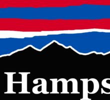 New Hampshire Red White and Blue Sticker