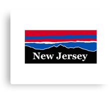 New Jersey Red White and Blue Canvas Print