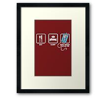 Doctor Who Clothing funny nerd geek geeky Framed Print
