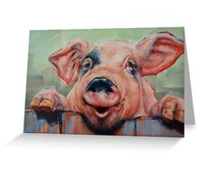 Perky Pig Greeting Card