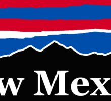 New Mexico Red White and Blue Sticker