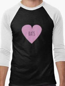 RAT LOVE Men's Baseball ¾ T-Shirt