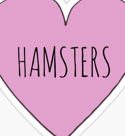 Hamster Love Sticker