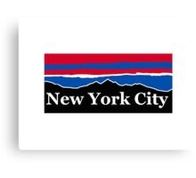New York City Red White and Blue Canvas Print