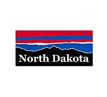 North Dakota Red White and Blue Photographic Print