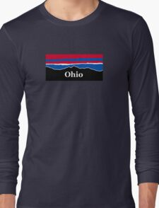 Ohio Red White and Blue Long Sleeve T-Shirt