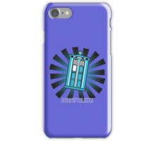 Dont blink funny nerd geek geeky iPhone Case/Skin
