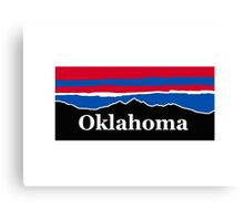 Oklahoma Red White and Blue  Canvas Print