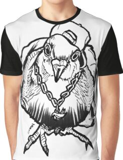 Homie Pigeon (Black & White) RedBubbleArtParty Graphic T-Shirt