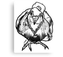 Homie Pigeon (Black & White) RedBubbleArtParty Metal Print