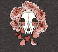 Cat and peonies- pink Unisex T-Shirt