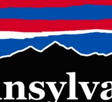 Pennsylvania Red White and Blue Sticker