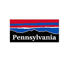 Pennsylvania Red White and Blue Photographic Print