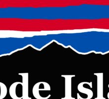 Rhode Island Red White and Blue Sticker