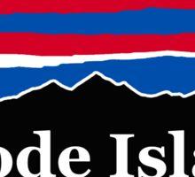Rhode Island Red White and Blue Sticker