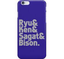 Ryu & Ken & Sagat & Bison funny nerd geek geeky iPhone Case/Skin