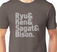 Ryu & Ken & Sagat & Bison funny nerd geek geeky Unisex T-Shirt