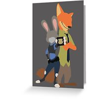 Judy and Nick Greeting Card