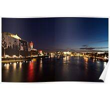 British Symbols and Landmarks - Silky River Thames at Night, Complete with the Royal Family Poster