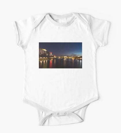 British Symbols and Landmarks - Silky River Thames at Night, Complete with the Royal Family One Piece - Short Sleeve