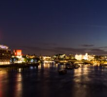 British Symbols and Landmarks - Silky River Thames at Night, Complete with the Royal Family Sticker
