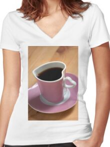 Date With Coffee Women's Fitted V-Neck T-Shirt