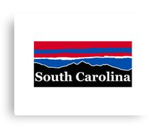 South Carolina Red White and Blue Canvas Print
