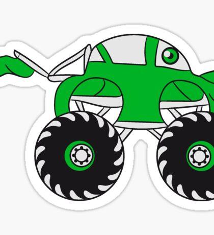 sweet cool monster truck comic eyes face cartoon cars turbo Sticker