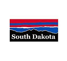South Dakota Red White and Blue Photographic Print